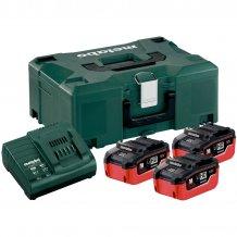 Набор аккумуляторов Metabo 18 В, 3x5.5 Ач, LiHD + MetaLoc (685069000)