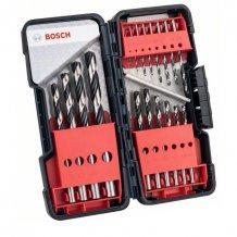 Набор спиральных сверл HSS PointTeQ DIN 338 ToughBox по металлу Bosch (18 шт.) (2608577350)