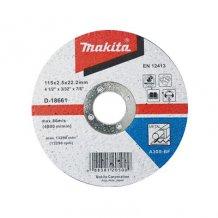 Круг отрезной по металлу Makita 115x22,23x2,5мм (D-18661)