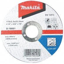 Круг отрезной по металлу Makita 125х3х22.23 мм (D-18574)
