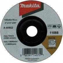 Зачисной диск по нержавейке выгнутый Makita 115 мм (A-80640)