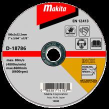 Отрезной диск по нержавейке Makita 180 мм (D-18786)