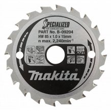 Отрезной диск Makita SPECIALIZED 85 мм 20 зубьев (B-16885)