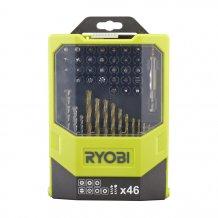 Набор сверел и бит Ryobi 46 предметов RAK46MiXC