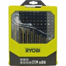 Набор сверел и бит Ryobi 86 предметов RAK86MiXC