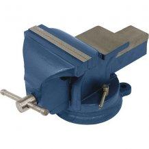 Тиски слесарные Miol поворотные 125 мм Синие (36-300)