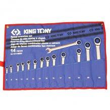 Набор ключей KING TONY комби с трещоткой 8-24 мм 14 предметов (12114MRN)