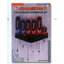 Набор отверток шлиц и крест Jonnesway, 6 предметов (D13PR06S)