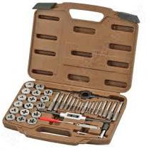 Набор метчиков и плашек Ombra 40 предметов (OMT40S)