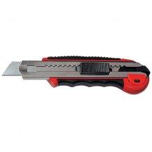 Нож MASTER MATRIX 18 мм, выдвижное лезвие, метал. направляющая, обрезиненная ручка + 5 лезвий (789219)