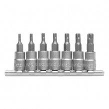 Набор головок с отверточными насадками YATO Torx TS10-TS40 7 предметов (YT-0461)