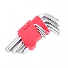 Набор Г-образных шестигранных ключей Intertool 9 предметов 1.5-10 мм, Cr-V (HT-0601)