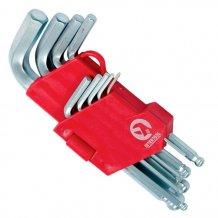 Набор Г-образных шестигранных ключей Intertool 9 предметов 1.5-10 мм, Cr-V (HT-0605)