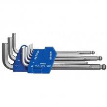Набор шестигранных ключей S&R Cr-V 1,5-10 мм 9 шт (365302109)
