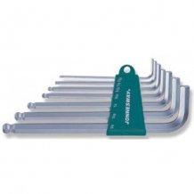 Комплект шестигранников Jonnesway Long с шаром 2.5-10 мм, 7 предметов (H05SM107S)