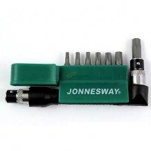 "Комплект вставок Jonnesway TORX с центрированным штифтом T-10H-T40 H1/4"" DR, 8пр. (S08H2ST8S)"
