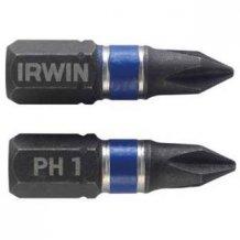 """Бита Irwin IMPACT 1/4""""/25мм PH1 2шт (1923286)"""