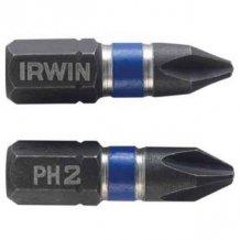 """Бита Irwin IMPACT 1/4""""/25мм PH2 10шт (1923290)"""