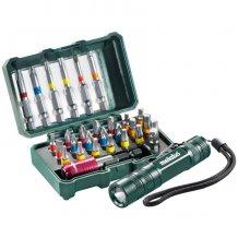 Набор инструментальных насадок Metabo SP, 29 предм.+ мини-фонарик (626721000)