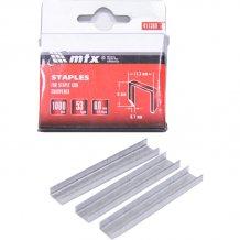 Скобы для мебельного степлера MTX 6мм, тип 53, заостренные 1000шт (411369)