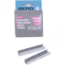 Скобы прямые Berg 10,6х8 мм, тип J (1000 шт.) 24-176