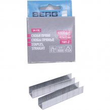Скобы прямые Berg 10,6х12 мм, тип J (1000 шт.) 24-178