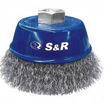 "S&R щетка 80мм  \'\'Чашка"" металич. д/КШМ M14 (135130081)"