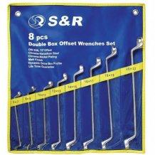 S&R набор накидн.ключей 8шт. (6-22мм)