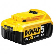 Аккумулятор 18 В, 5 Ач, Li-Ion DeWalt (DCB184)