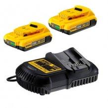 Зарядное устройство + аккумулятор 18 В, 2х2 Ач, Li-Ion DeWalt DCB115D2