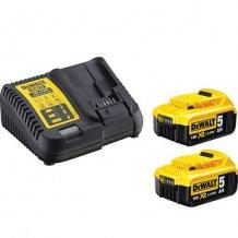 Зарядное устройство + аккумулятор 18 В, 2х5 Ач, Li-Ion DeWalt DCB115P2