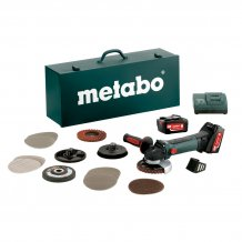 Аккумуляторная болгарка Metabo W 18 LTX 125 QUICK INOX SET