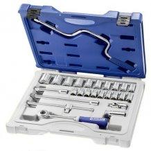 """Набор инструментов Stanley EXPERT 1/2"""" 26 ед. (головки: 10-24, 27, 28, 30, 34 мм, трещотка, 2 удлинителя, вороток E032943"""