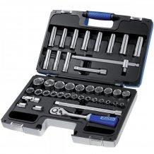 """Набор инструментов Stanley EXPERT 1/2"""" 42 ед. (головки: 8-32 мм, удлиненные 12- 19, 21, 22, 24 мм, 2 удлинителя) E032908"""
