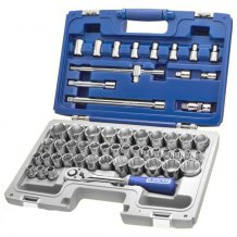 """Набор инструментов Stanley EXPERT 1/2"""" 55 ед. (головки: 8--32, 34 мм, 12-гран: 3/8"""" - 1 1/4"""", головки Torx: E10-E200) E032909"""