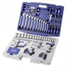 """Набор инструментов Stanley EXPERT 1/4 """"- 1/2"""" 124 ед. (головки, трещотки, ключи р/н шестигранники, отвертки, кусачки) E034806"""