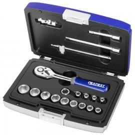 """Набор инструментов Stanley EXPERT 1/4"""" 19 ед. (головки 4-14 мм, трещотка, вороток, 2 удлинителя, кардан, держатель) E030700"""