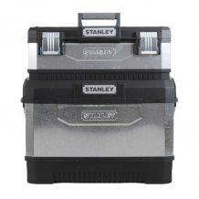 Ящик Stanley металлопластмассовый, двухсекционный, гальванизованый на колёсах (1-95-832)