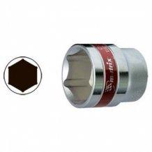 """Головка торцевая MTX 14 мм, 6-гранная, CrV, под квадрат 1/2 """", хромированная. (131149)"""