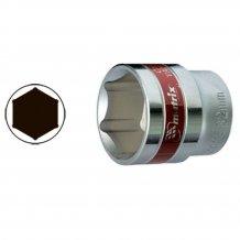 """Головка торцевая MTX 21 мм., 6-гранная, CrV, под квадрат 1/2 """", хромированная (131219)"""