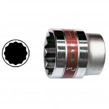 """Головка торцевая MTX 9 мм., 12-гранная, CrV, под квадрат 1/2 """", хромированная (136789)"""