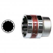 """Головка торцевая MTX 13 мм. 12-гранная, CrV, под квадрат 1/2 """", хромированная (136869)"""
