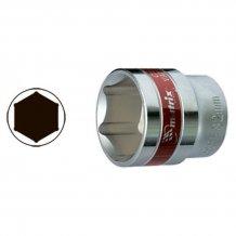 """Головка торцевая MTX 17 мм. 12-гранная, CrV, под квадрат 1/2 """", хромированная (136909)"""