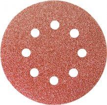 """Круг абразивный на ворсовой подложке под """"липучку"""", перфорированный, P 36, 125 мм, 5 шт., MTX(738019)"""