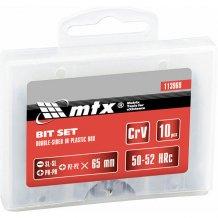 Набор бит 65мм, SL-SL, Ph-Ph, Pz-Pz, сталь 45Х, 10 шт., двухстор. MTX (113969)