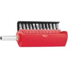 Набор бит, сталь S2, 12 шт, встроенный магнитный адаптер, в пласт. боксе MTX MASTER (113149)