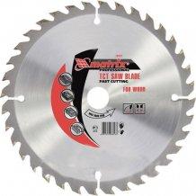 Пильный диск по дереву, 185 х 36 мм, 20 зубьев, + кольцо, 16/20// MTX Professional (732789).