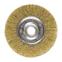 Щетка дисковая 175х22 мм, для УШМ, плоская металлическая MTX (746669).