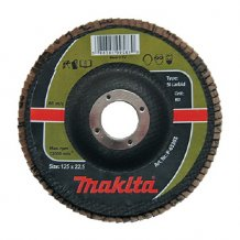 Лепестковый шлифовальный диск Makita 125х22,23 К40, карбид кремния (P-65333).
