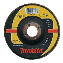 Лепестковый шлифовальный диск Makita 125х22,23 К60, цирконий (P-65501).